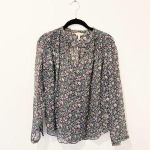 Rebecca Taylor Floral Silk Blouse